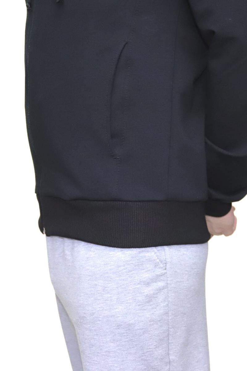 7779f006d166 ... капюшоном черная Олимпийка мужская черная